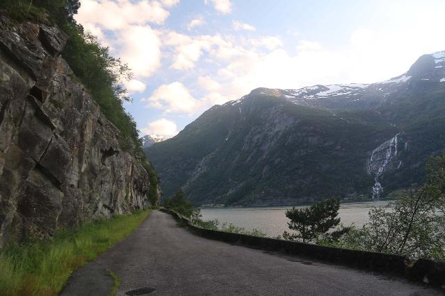 AEdnafossen_008_06232019 - The old road that now serves as more of a pedestrian and bike path along Sørfjorden for a more relaxed Ædnafossen experience