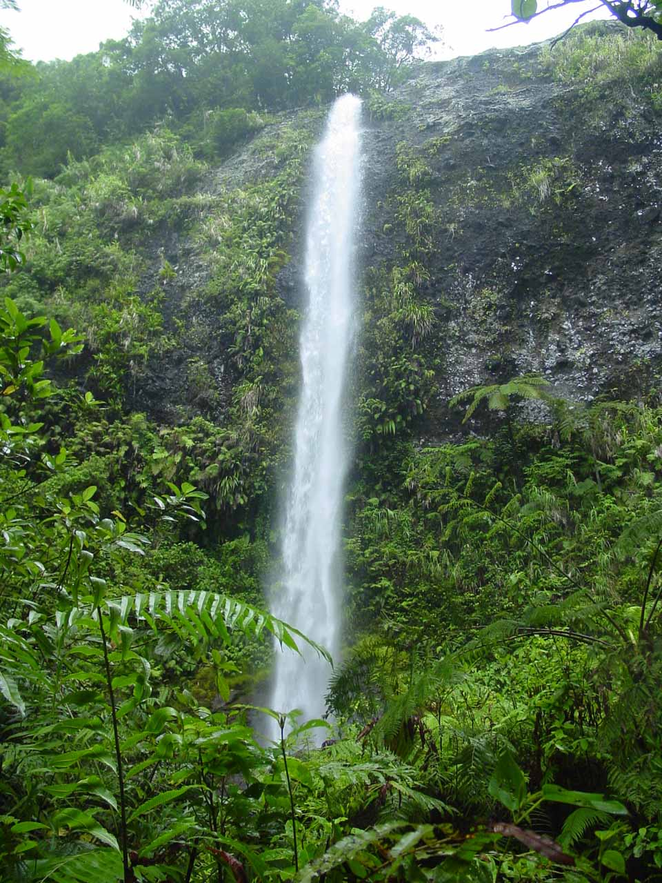 Savu-i-One Waterfall in Koroyanitu National Park near the remote Abaca