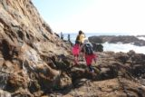 Abalone_Cove_106_02202016 - Julie and Tahia climbing onto some rocks to see if there were other more interesting tide pools