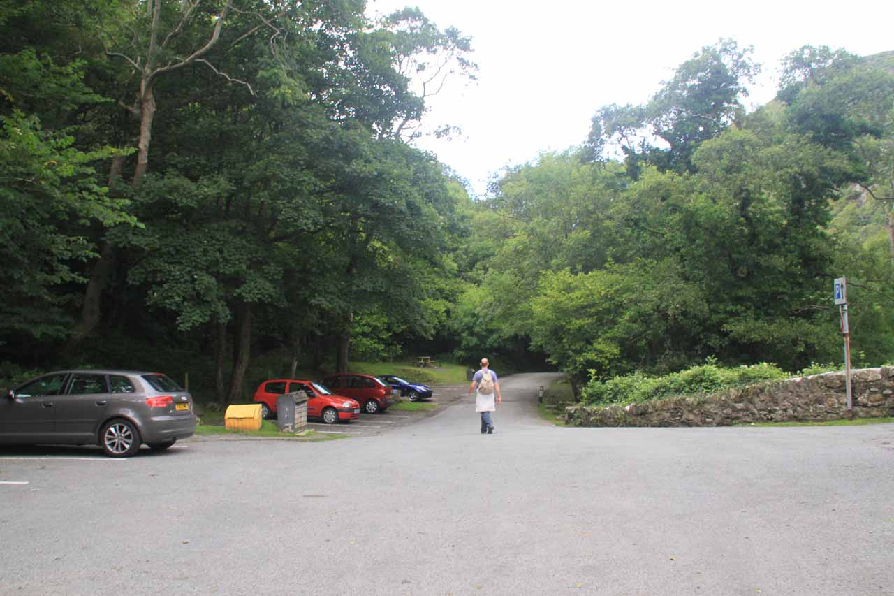 The larger and more accessible Lower Car Park