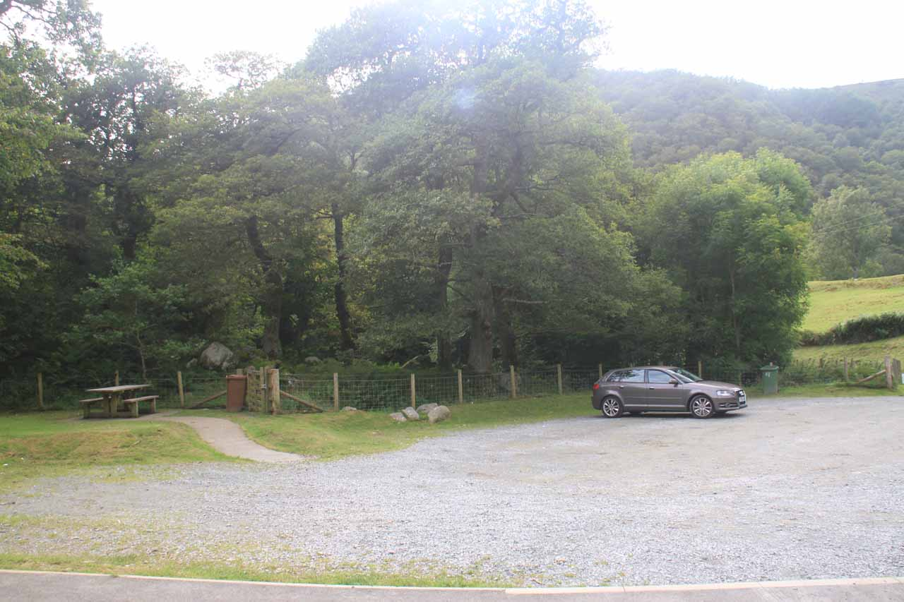 This was the smaller Upper Car Park