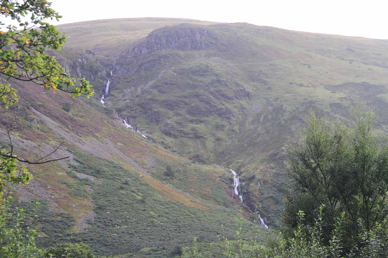 Distant view of the impressive Rhaeadr Fach