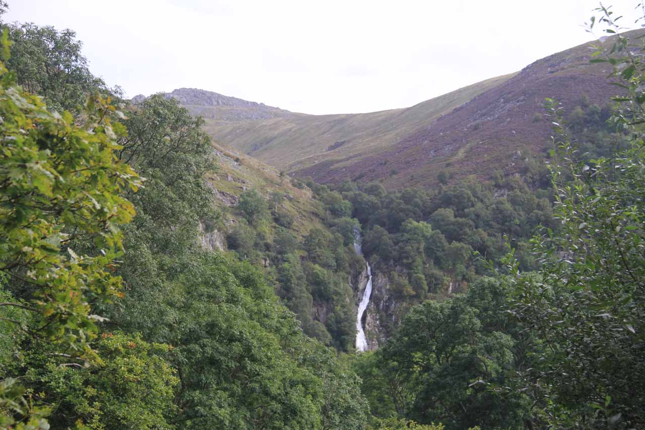 Then as I proceeded further, I finally started to see Aber Falls or Rhaeadr Fawr