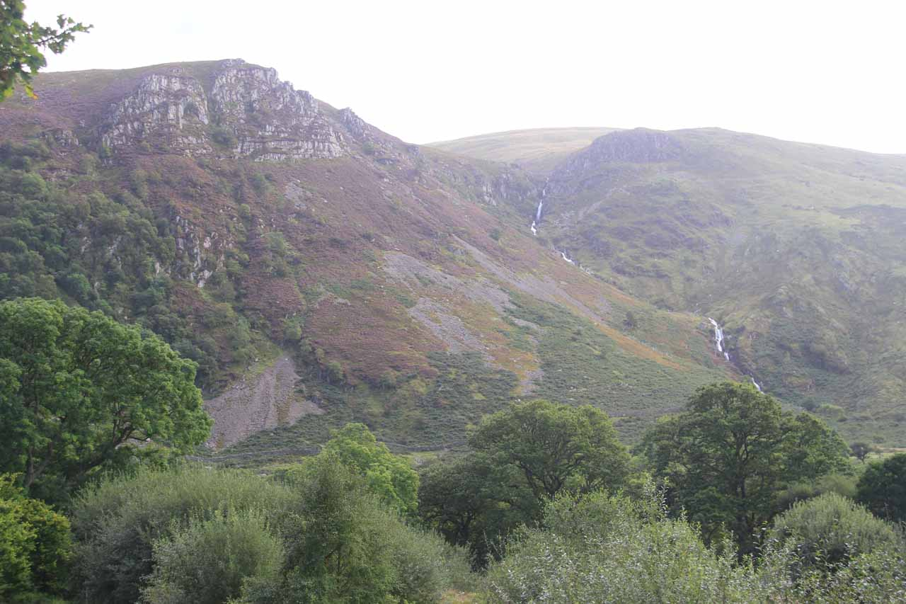 Shortly after the sheep herding, I then started to notice this waterfall off to the side, which just so happened to be Rhaeadr Fach