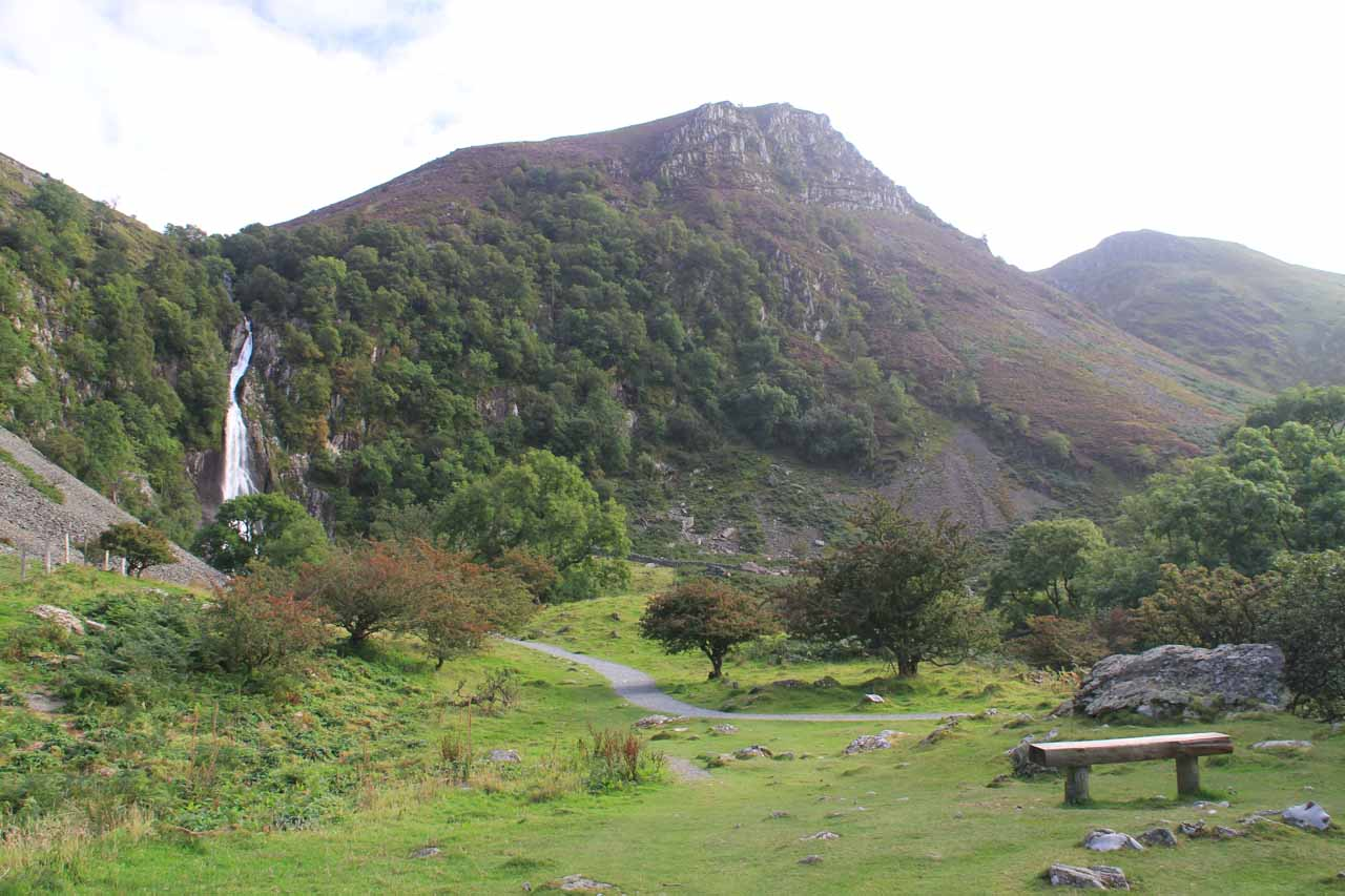 As much as I wanted to stop and chill out with this view of Aber Falls, I still had a strong urge to get closer
