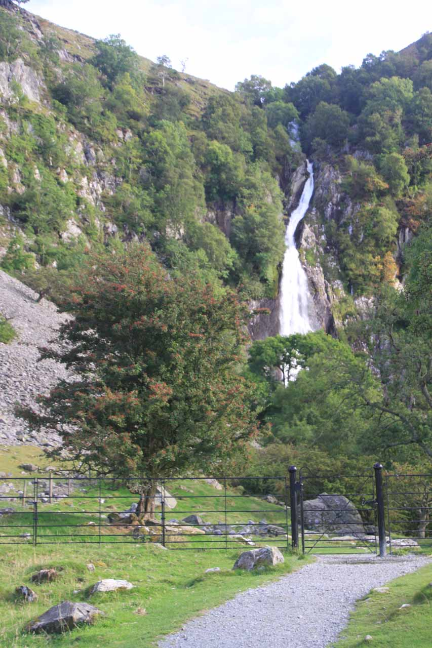 I had to get past this gate to continue to the base of Aber Falls