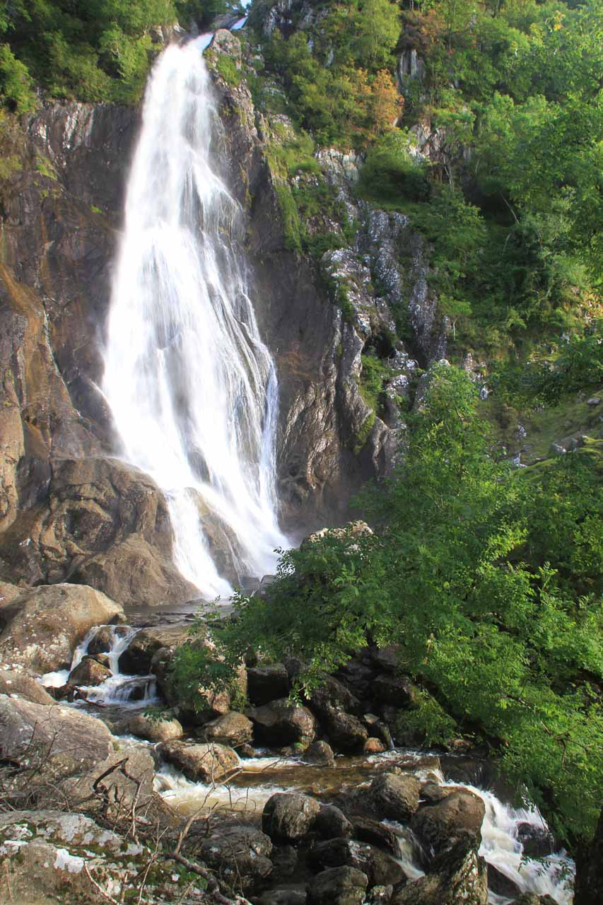 At last, the base of Aber Falls