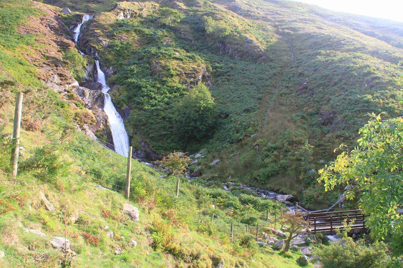 Finally approaching the base of Rhaeadr Fach