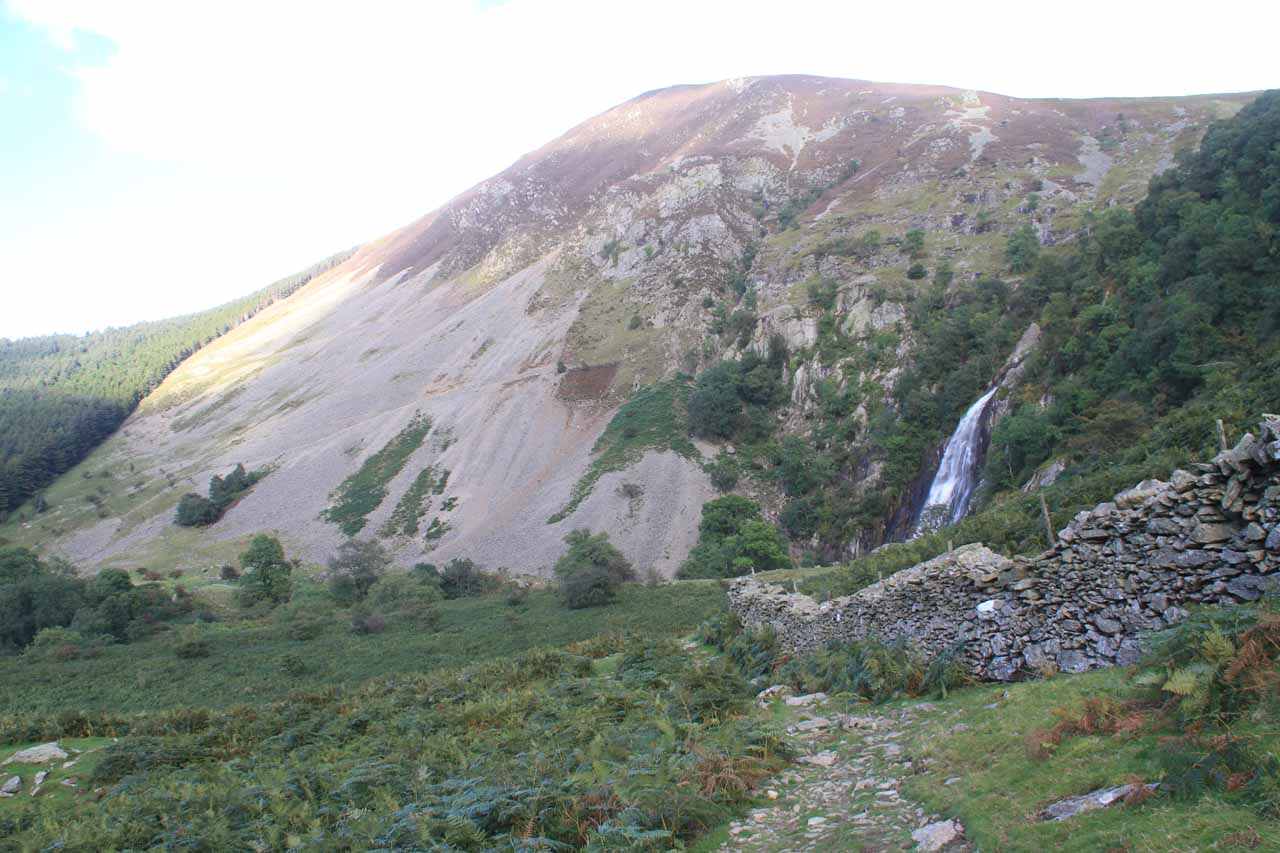 Last look at Aber Falls before continuing to head back