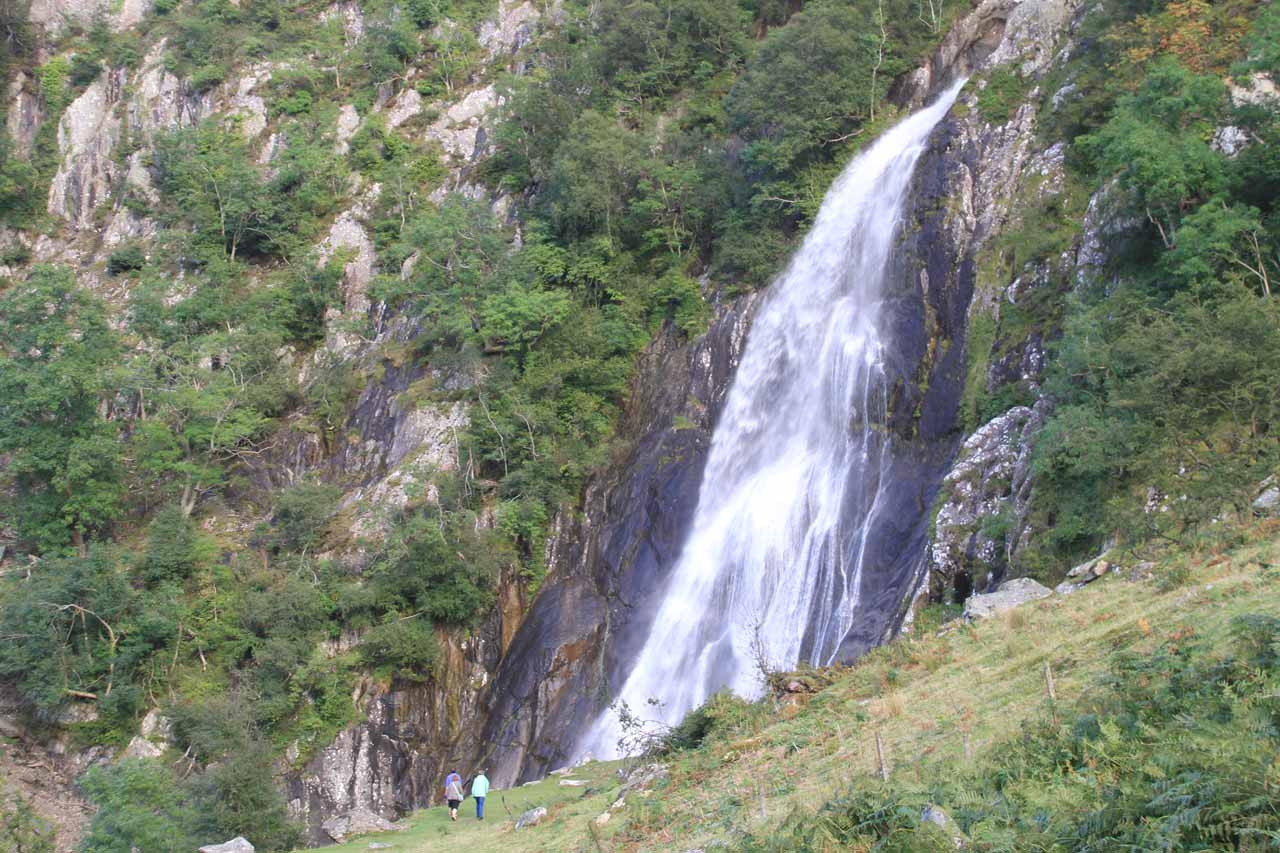 A closer look from the other side of Aber Falls