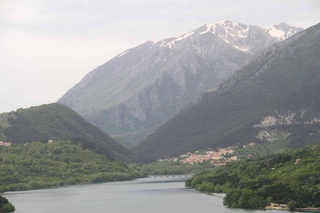 Another look at Lago di Barrea in Parco Naturale d'Abruzzo e Molise