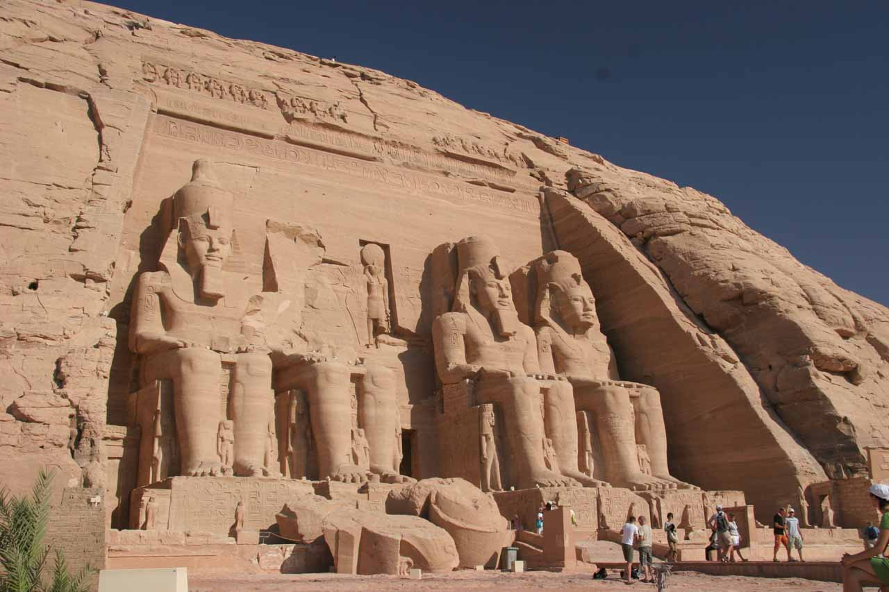 Approaching the first entrance of Abu Simbel