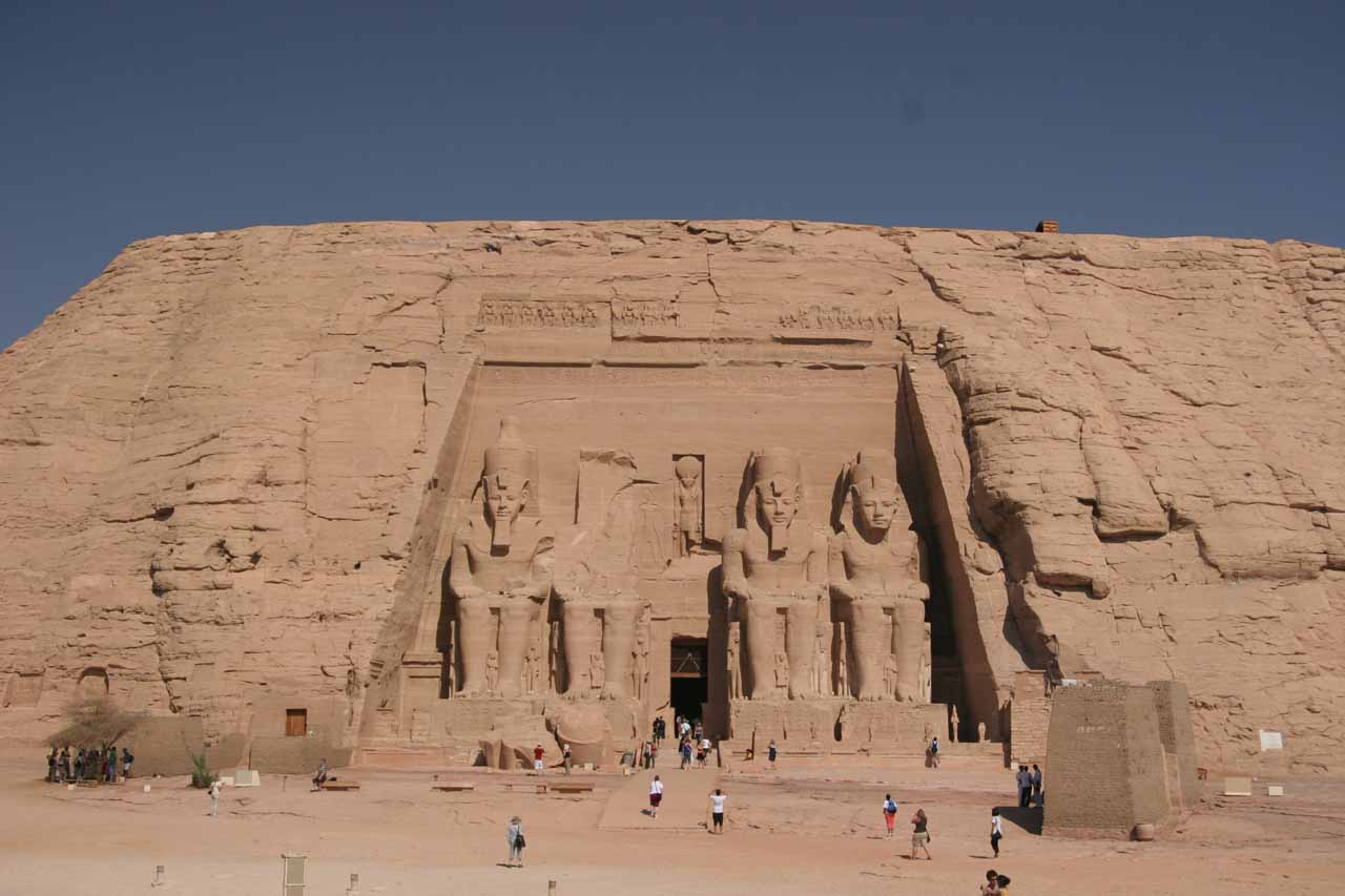 Just because we're waterfalling doesn't mean we can't make detours to ancient sights like Abu Simbel in the Nile River Valley of Egypt