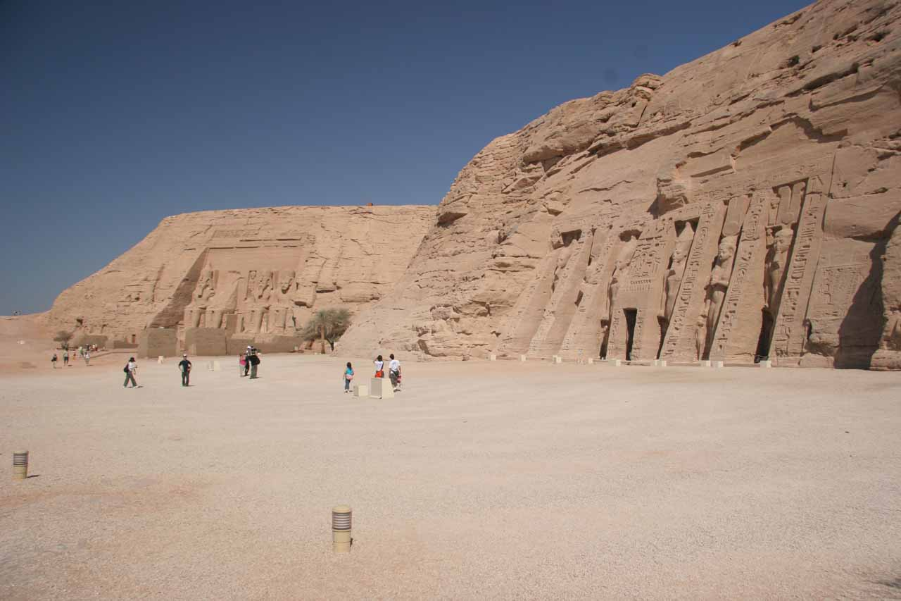 Both Nefertari and Ramses Temples at Abu Simbel