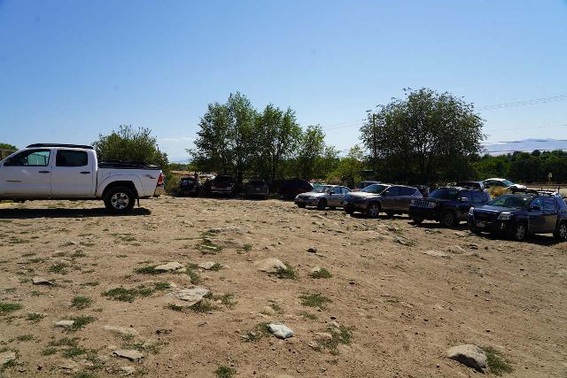 Adams_Falls_002_08092020 - The unpaved trailhead parking lot for the Adams Canyon Trail, which also happened to be the same starting point to pursue the Little Adams Falls