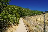 Adams_Falls_005_08092020 - Following along the sandy trail by some fencing at the start of the Adams Canyon Trail during my scorching hot hike in mid-August 2020