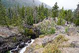 Adams_Falls_034_07282020 - Looking back downstream towards the main lookout area for Adams Falls as I continued on the short loop in a counterclockwise manner