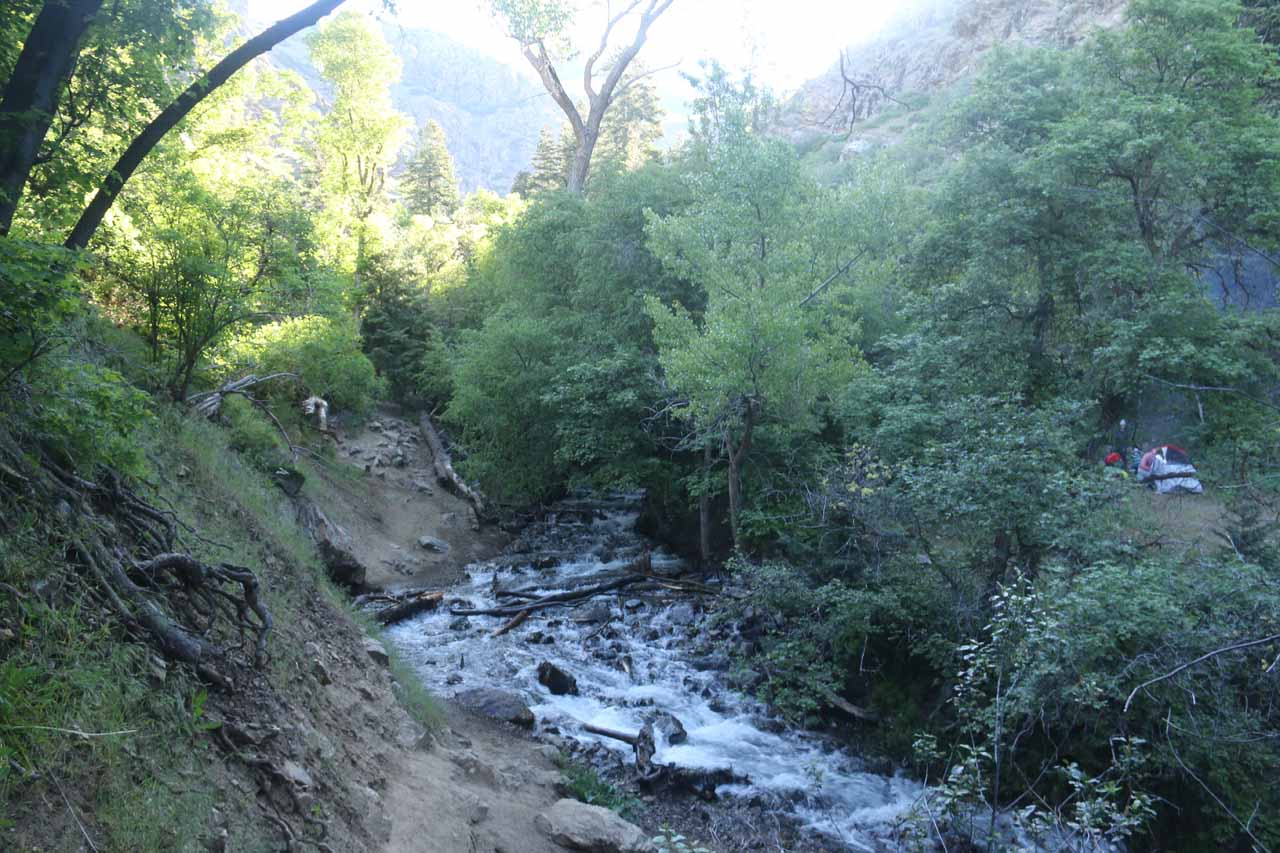 This was one of the eroded sections of the Adams Canyon Trail