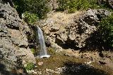 Adams_Falls_106_08092020 - Looking back at the Lower Adams Falls one last time before heading back to the rest bench to resume the Adams Canyon Trail