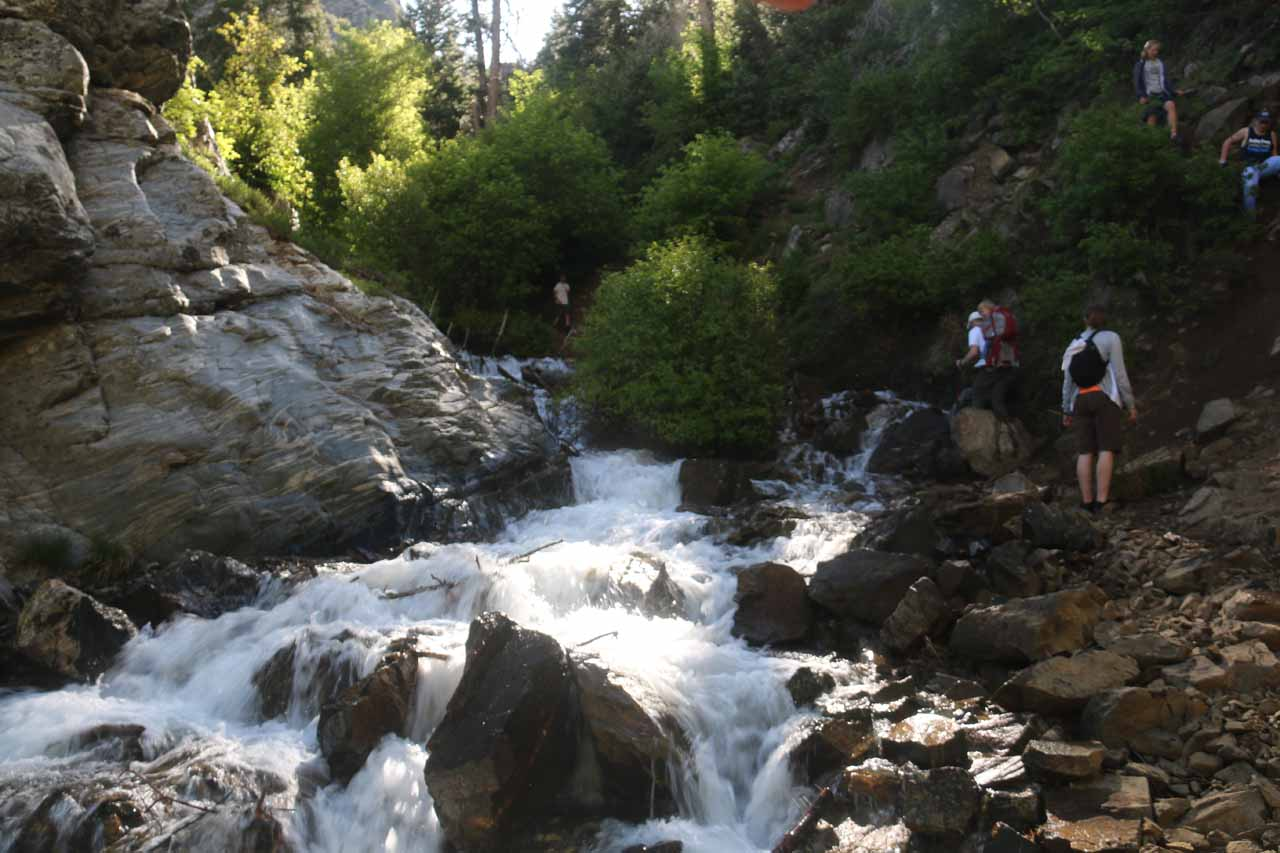 As the Adams Canyon Falls hike continued to climb, it also got rougher