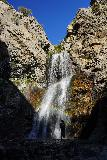Adams_Falls_203_08092020 - Late afternoon was the perfect time to take silhouette shots of people in front of the bright Adams Falls in mid-August 2020