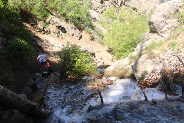 Adams_Falls_213_05272017 - After having my fill of Adams Falls, I still had to go back the way I came up and that meant having to deal with eroded sections and creek scrambles like this again
