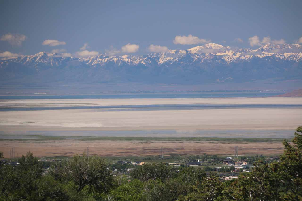When I left Adams Canyon, I managed to get very attractive views in the direction of Antelope Island and the Great Salt Lake