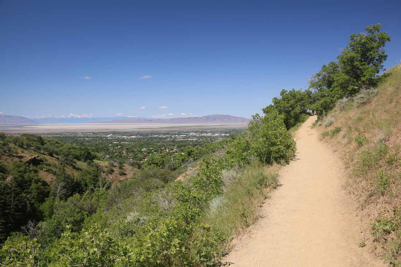 Context of the Adams Canyon Trail and the views
