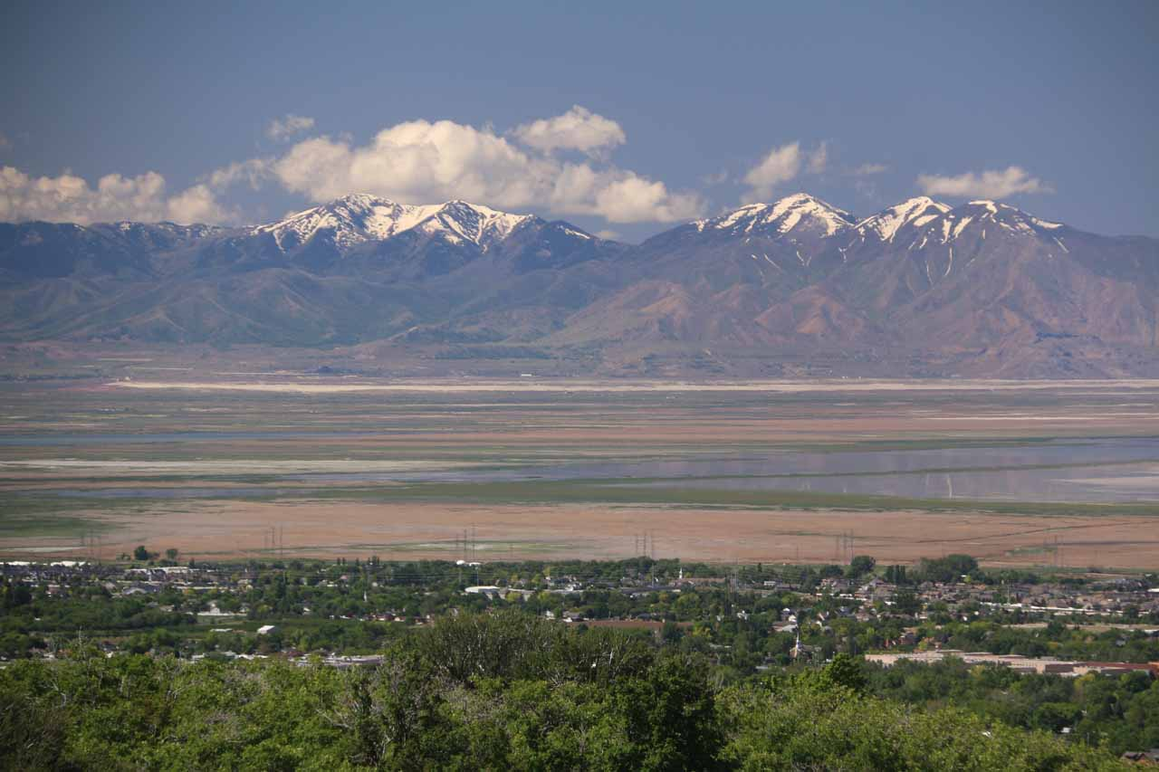 One of the benefits of the Adams Falls hike was the views looking over Layton towards Antelope Island and the Great Salt Lake