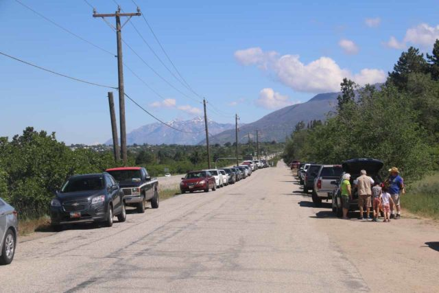 Adams_Falls_266_05272017 - Looking down Eastside Drive where lots of people had parallel parked along this street, which attested to how popular this the Adams Falls Trail was despite how hard it was