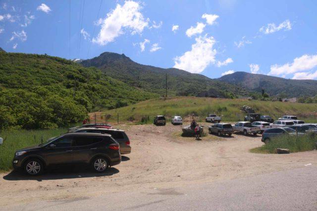 Adams_Falls_268_05272017 - The unpaved trailhead parking lot for the Adams Falls Trail