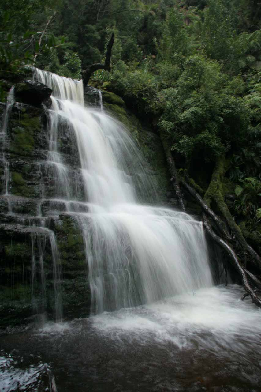 Side view of one of the tiers of Adamsons Falls