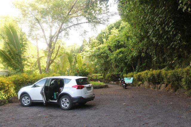 Afu_Aau_Falls_004_11142019 - The car park at the end of the unpaved road for the Afu Aau Waterfall