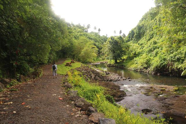 Afu_Aau_Falls_095_11142019 - Julie heading back from the Afu Aau Waterfalls