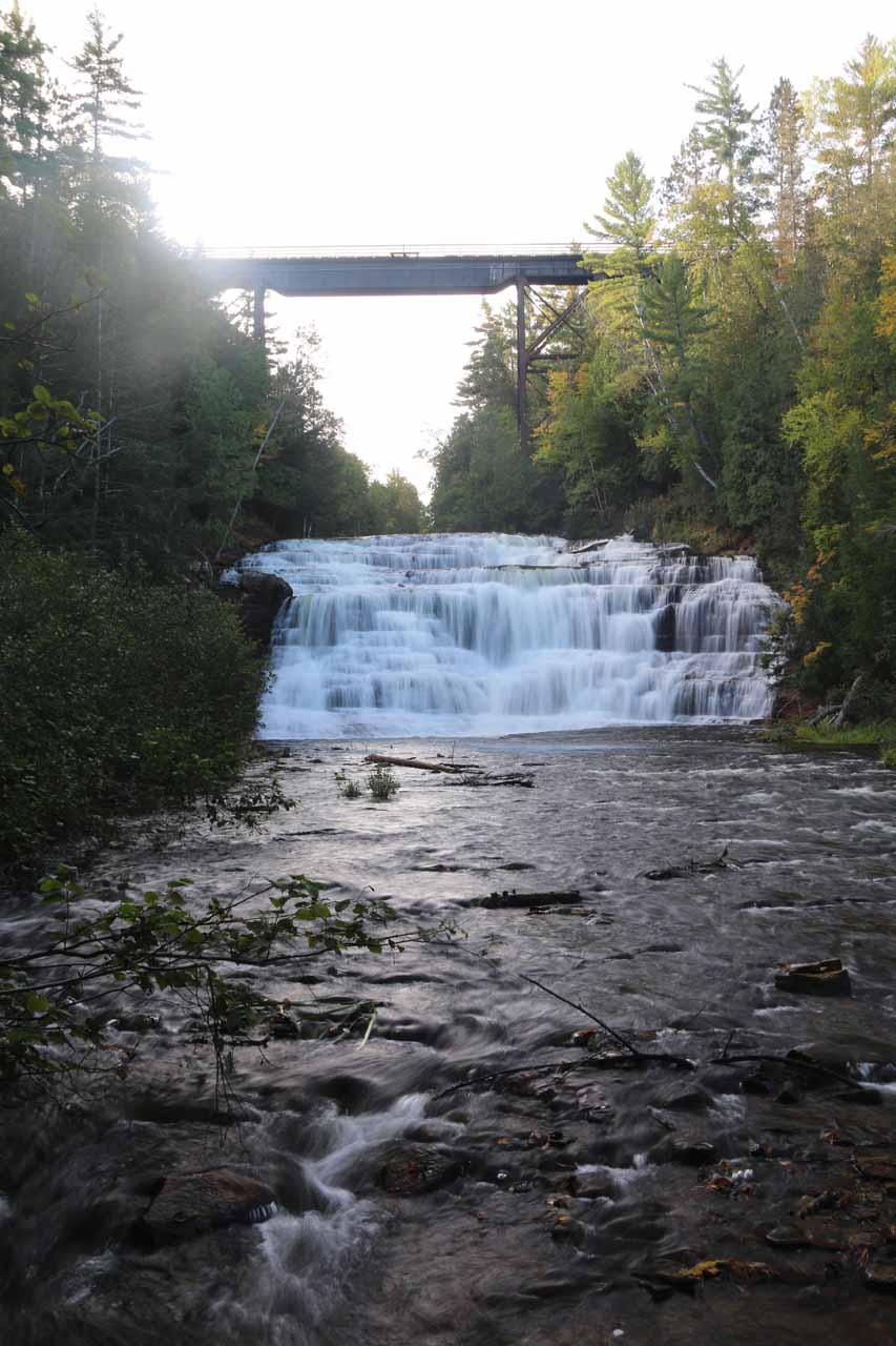 Just Agate Falls and the bridge