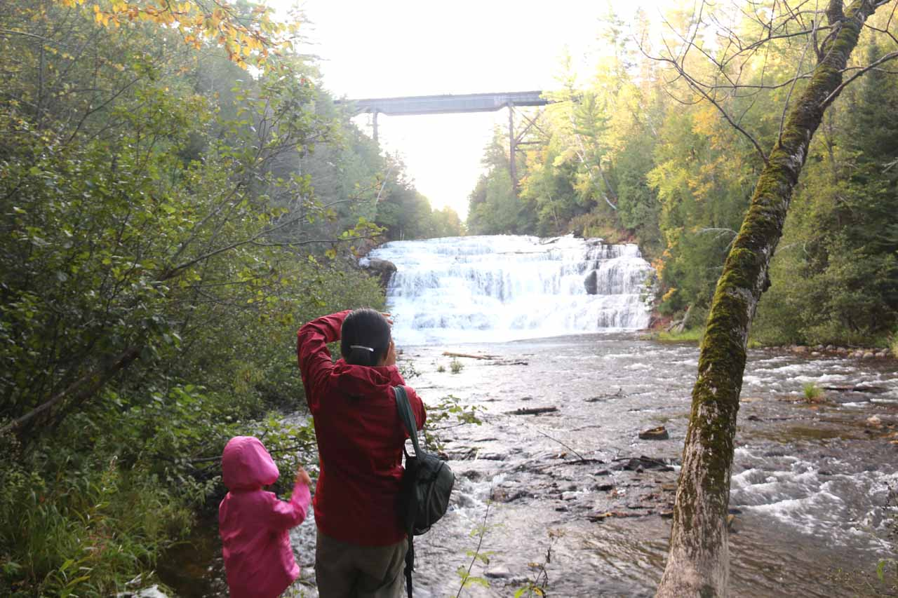 Julie and Tahia checking out Agate Falls