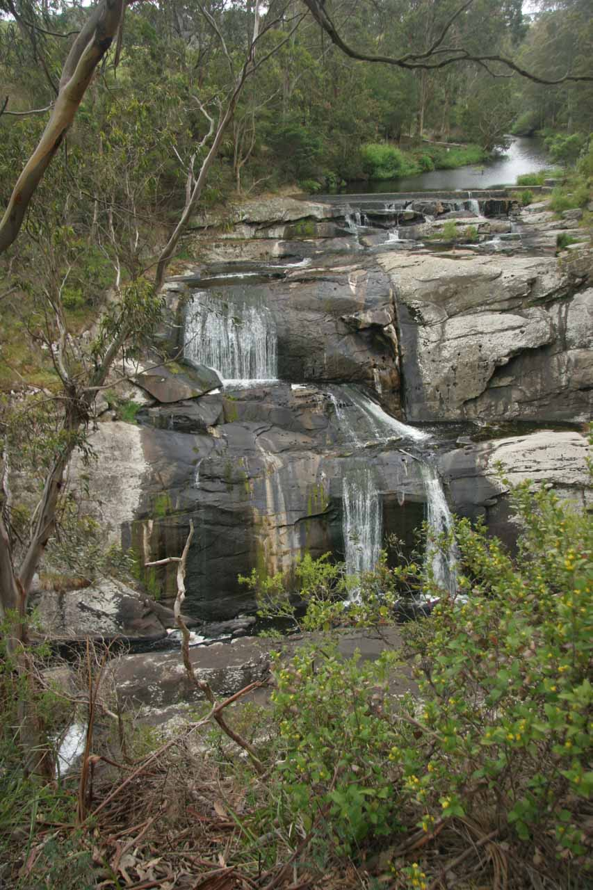 Partial frontal view of Agnes Falls as we were getting closer to the end of the walking track