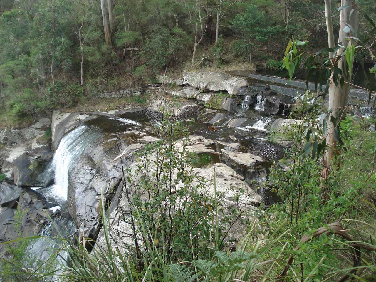Closer look at the top part of Agnes Falls