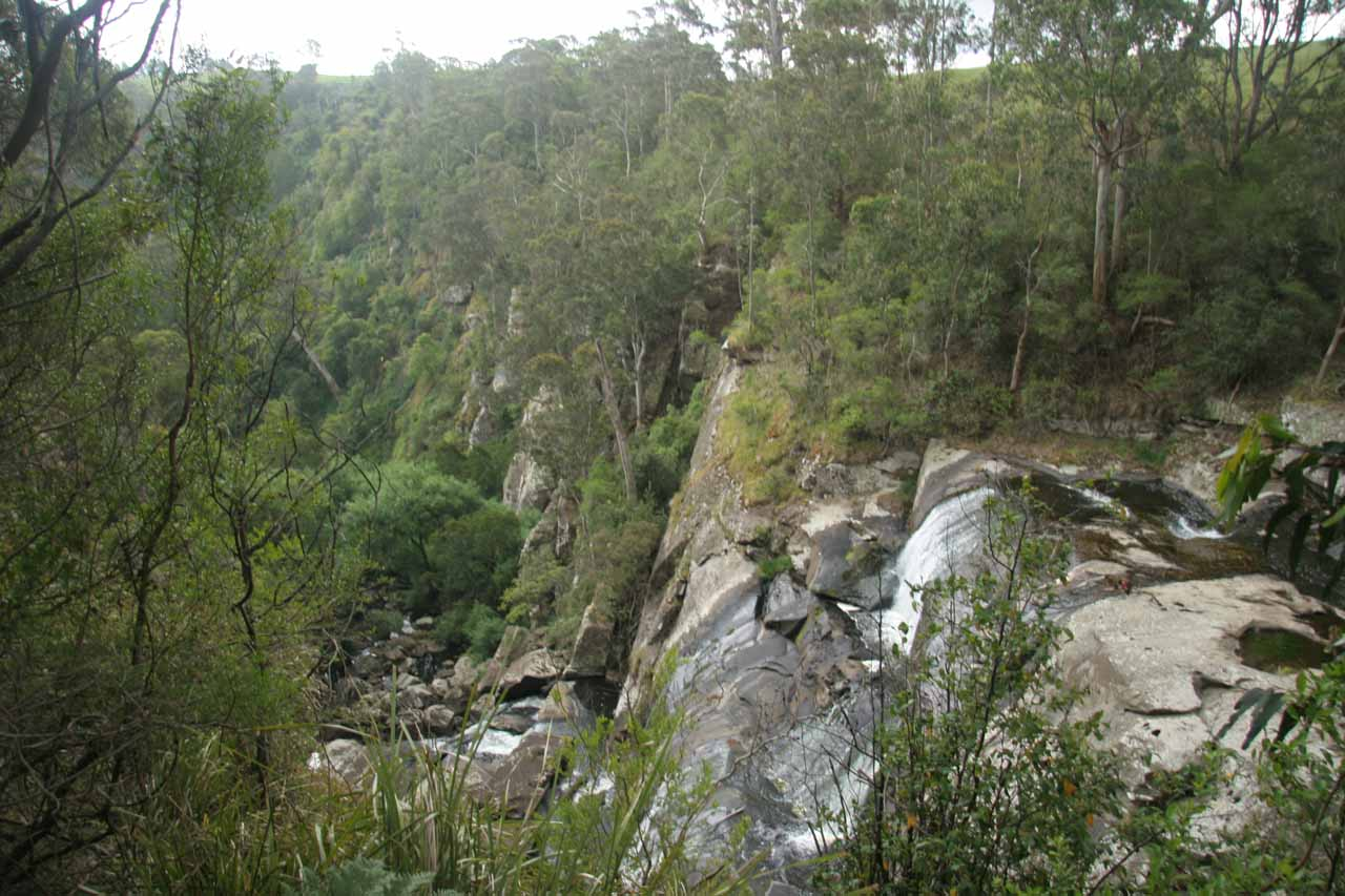 Profile view of Agnes Falls