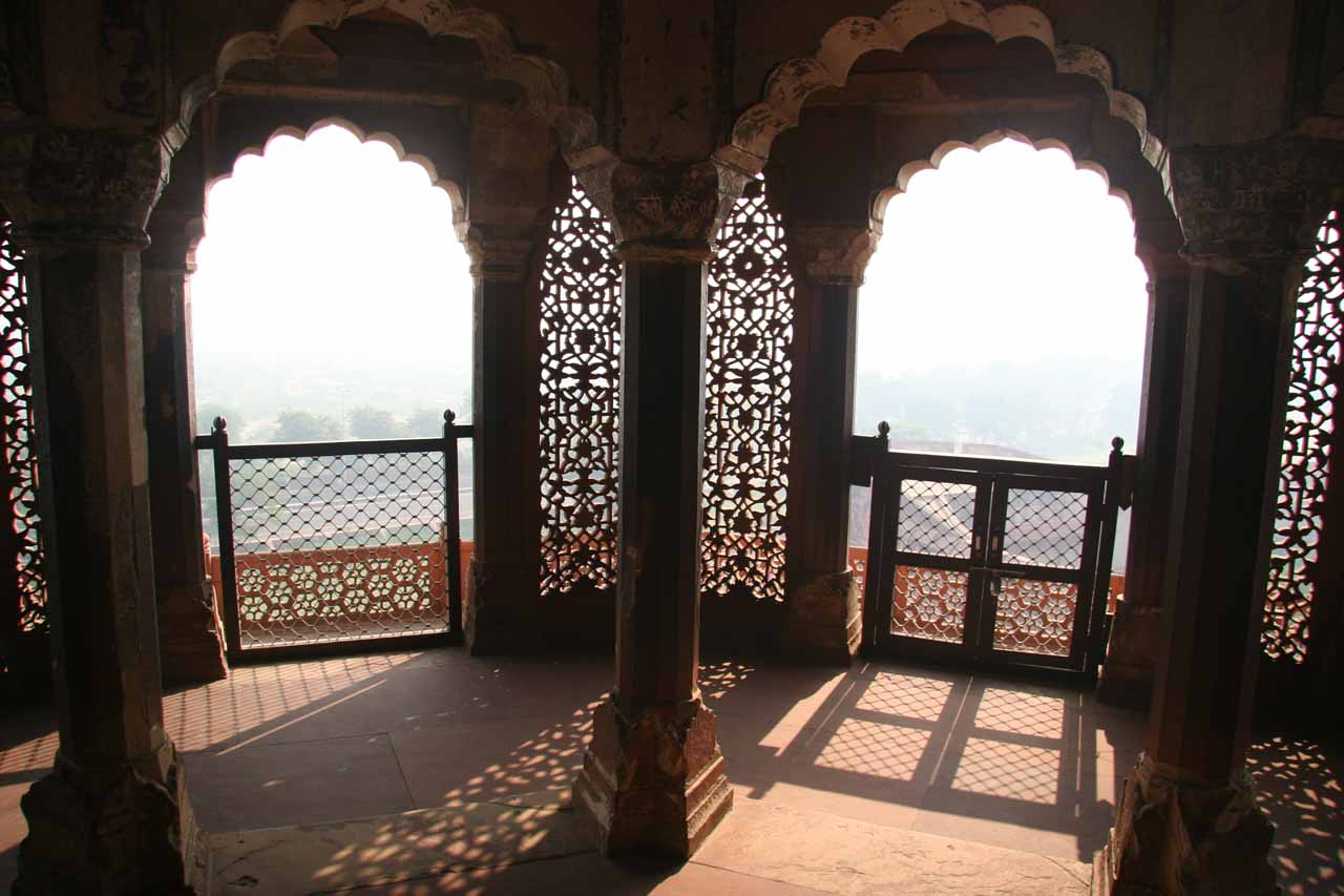 Impressive views through these arches from the Agra Fort