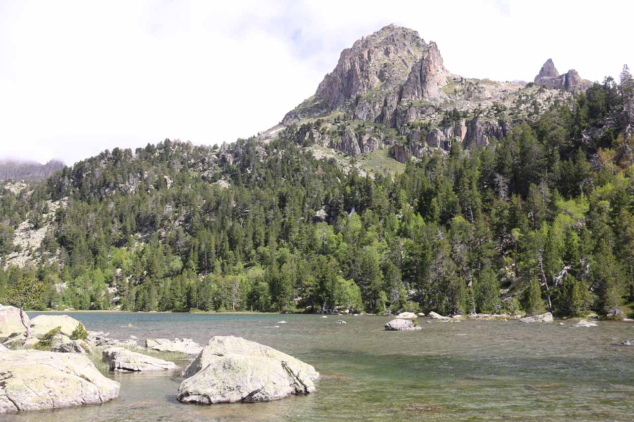 Last look back at Estany de Ratera before we continued further down the mountain towards Cascada de Ratera