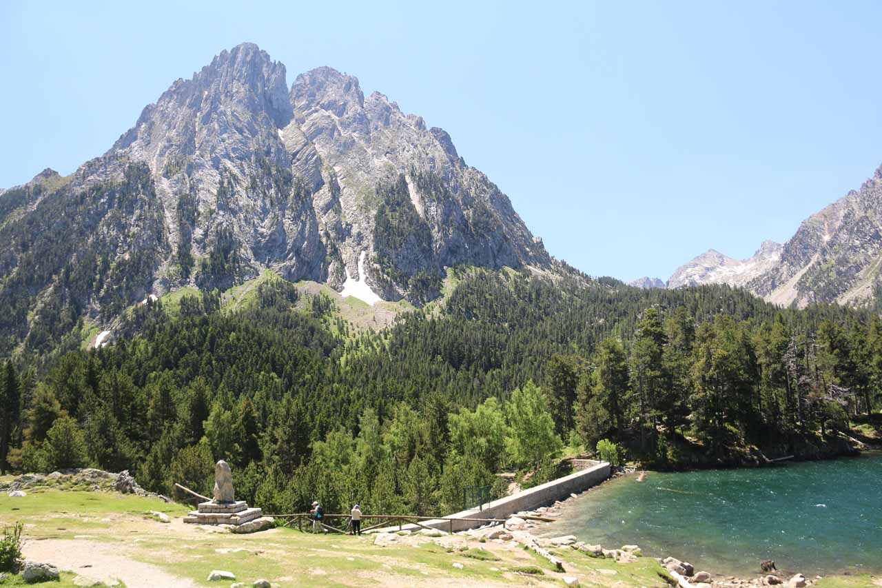 This view of the mouth of Estany de Sant Maurici proved that it was man-made or at least man-modified