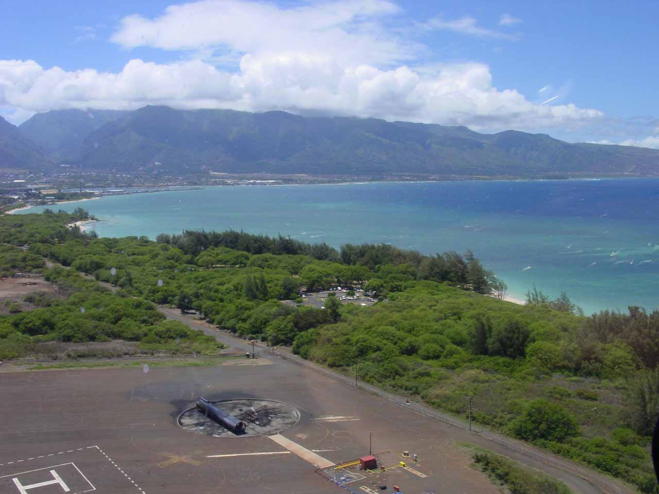 Taking off from the helipad in Kahului