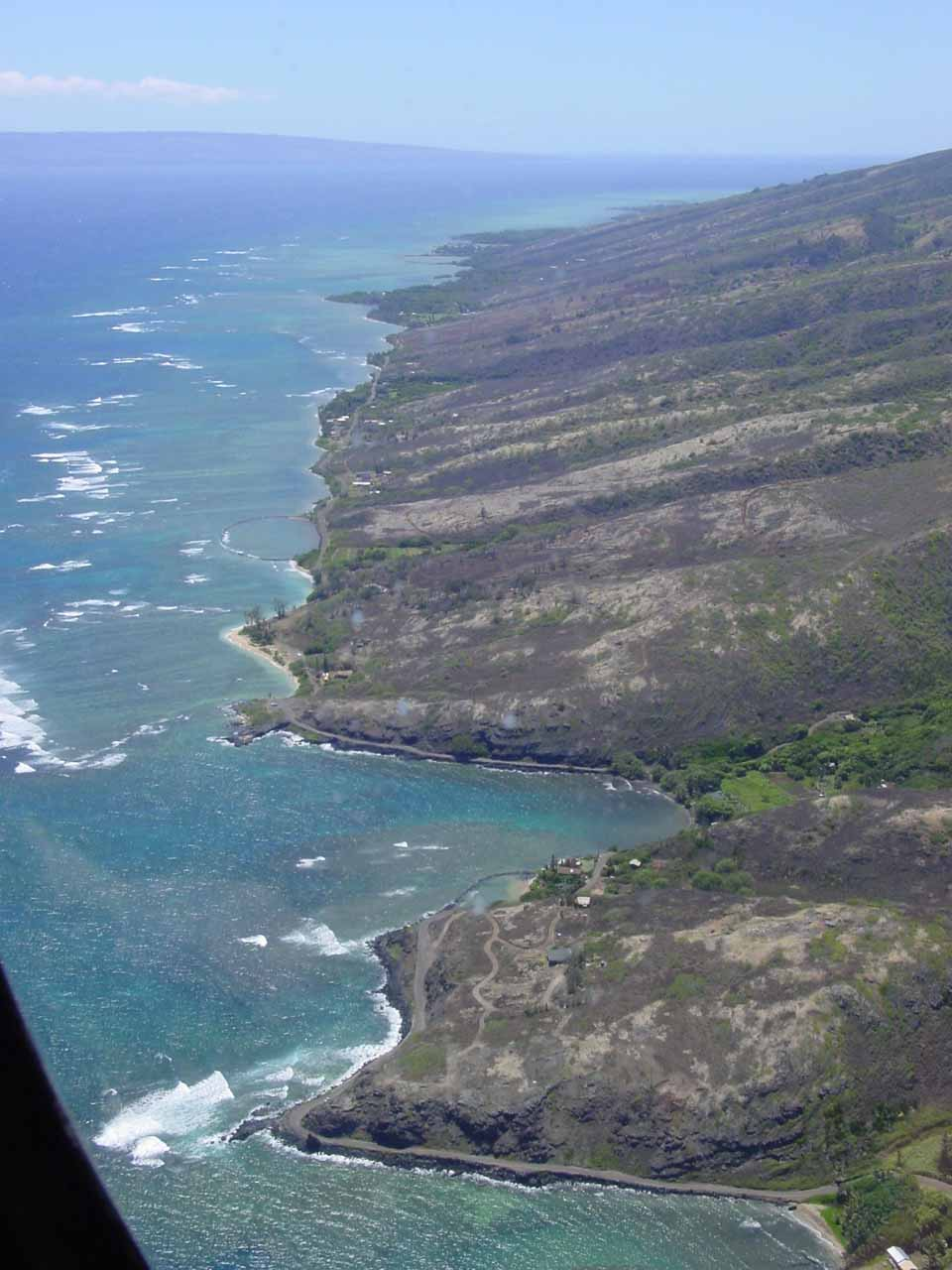 Checking out the drier leeward slopes of southern Molokai