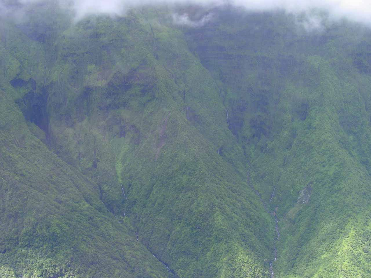 The Wall of Tears (the other touted feature of this West Maui Helicopter flight), except there were hardly any tears