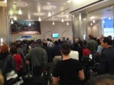 Air_NZ_008_jx_12022015 - The ridiculous line from the baggage claim just to get out of the airport at LAX; we feel real bad for those folks connecting to Heathrow as they had to get through this as well