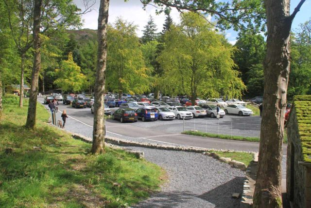 Aira_Force_001_08182014 - Looking back at the very busy car park for Aira Force