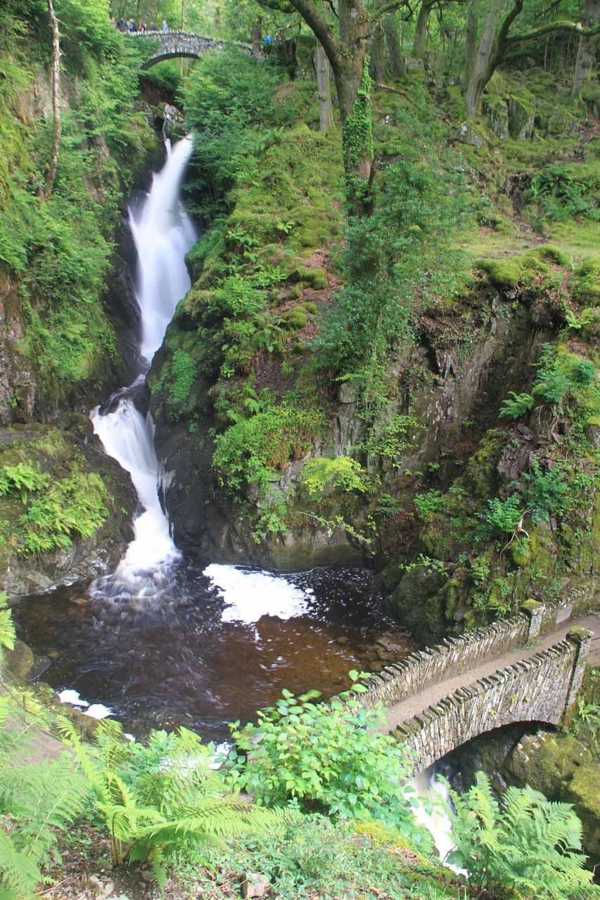 Aira Force with arch bridges above and below it
