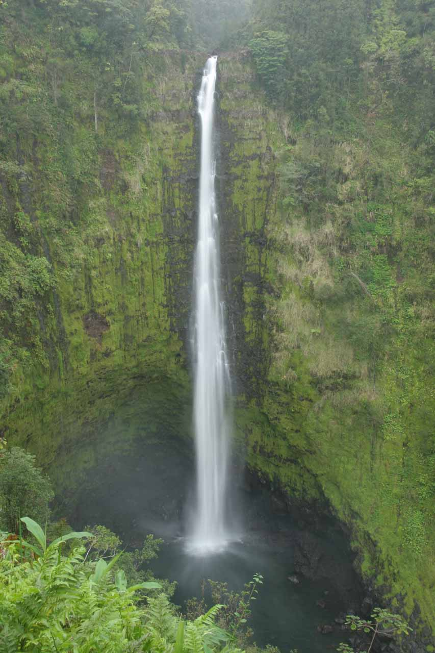 Akaka Falls under overcast skies so there was even lighting