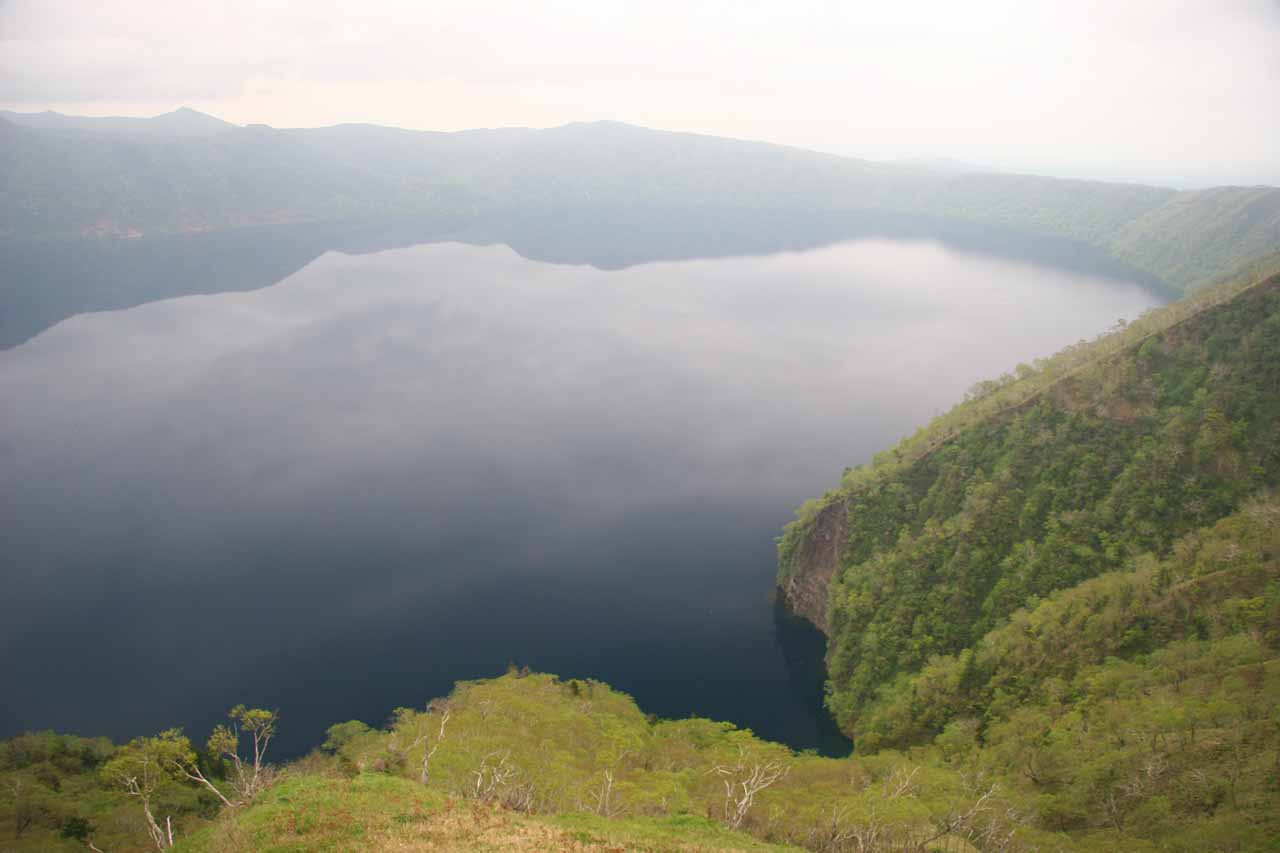 South of Furepe Falls about less than an hour drive south of Shari off Hwy 391 and a local access road was the beautiful crater lake called Lake Masho or Mashoko